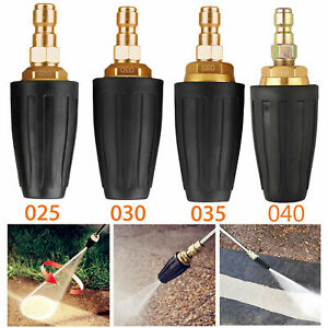 """Quick Connect High Pressure Washer Rotating Turbo Nozzle 3000 PSI 2.5-4 GPM 1/4"""""""