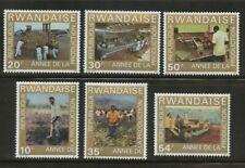 Coffee production 6 stamps 1975 Rwanda #699-704