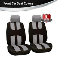 Gray 2 Front Car Seat Covers Sport  Style High Bucket  Seat Protector Cushion