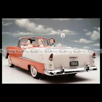 #pha.002135 Photo CHEVROLET BEL AIR CONVERTIBLE 1955 Car Auto