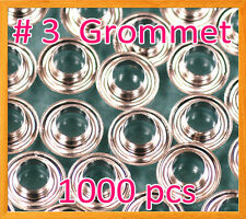 """1000 #3 7/16"""" Grommet and Washer Nickel Eyelet Grommets Machine Sign Punch Tool"""
