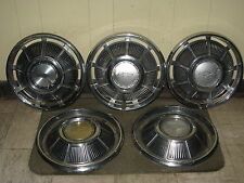 "69 70 Chevrolet Hub Caps 14"" Set of 5 Chevy Wheel Covers 1969 1970 Hubcaps"