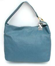 Nwt $285 MAXX New York Large Leather Shoulder Bag Hobo Handbag Tote ~Blue
