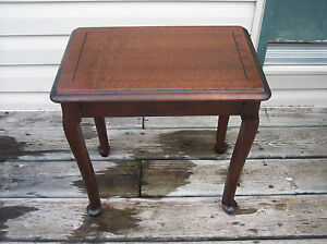 Walnut Bench or Side Table / End Table  (T229)