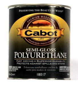 1 Ct Cabot 946 mL Semi Gloss Polyurethane 18017 Fast Drying Superior Durability