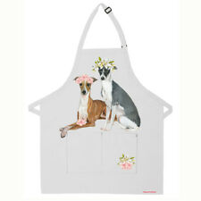 Italian Greyhound Dog Apron Two Pocket Bib Apron with Adj Neck