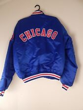 blue satin cubs starter jacket, xxl, #41, chest 56""