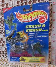 Hot Wheels 1995 CRASH & SMASH Bikes REPTILE,Bike and Launcher Sealed Mattel14891
