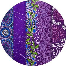 "JELLY ROLL - AUSTRALIAN ABORIGINAL ART FABRICS - 25 x 2.5"" STRIPS - PURPLE #1"