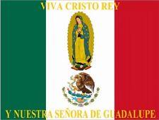 """~Post Card~""""Viva Cristo Rey y La Nuestra Senora de Guadalupe"""" (O L G)  (B-403)"""