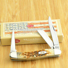 Case XX Amber Jigged Bone Stockman Pocket Knife With Punch 00264 6318PU CV