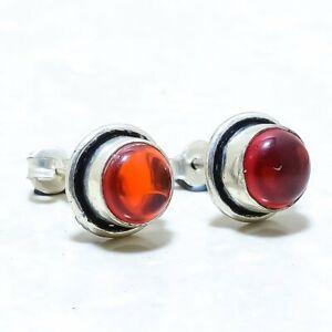 Garnet Gemstone Handmade Ethnic Silver Jewelry Earring Stnd. ERJ9159