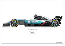 2017 Lewis Hamilton Mercedes W08 ltd ed./250 signed & numbered by artist