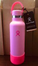 Hydro Flask 21 oz Neon Bubblegum Water Bottle Rare Limited Edition w Bag & Boot