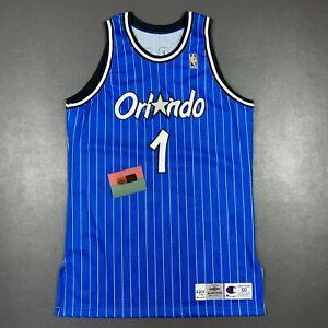 100% Authentic Penny Hardaway Champion 96 97 Signed Orlando Magic Game Jersey