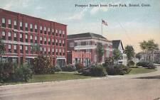 Antique POSTCARD c1915 Prospect Street from Depot Park BRISTOL, CT 16604