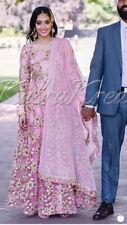 Anarkali Pink Dress Desi Wedding Bridal Party Indian Pakistan