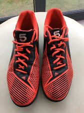 ADIDAS FREEFOOTBALL Astro Turf Red Black Football Shoes Trainers UK 12 Soccer