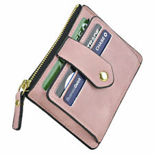 Women Faux Leather Wallet Coin Purse Card Holder with ID Window