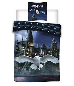 Harry Potter Bedding Owl & Hogwarts Cover & Pillow Duvet cover Single 100%COTTON