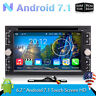 Double 2 Din Android 7.1 Car DVD Radio Stereo Player Wifi 4G GPS Bluetooth Navi