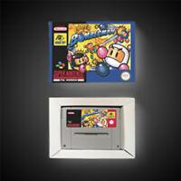 Super Bomberman PAL EUR Version With Retail Box Action Game Super SNES Nintendo
