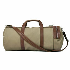 Brunello Cucinelli Suede & Leather Two Tone Travel Duffel Gym Bag NEW
