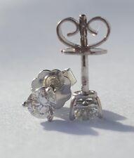 1 Paar Ohrstecker 750 Weissgold  mit Brillanten 0,52 TW/IF zum Juweliereinkauf!