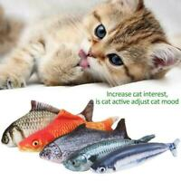 Funny Fish Shape Pet Cat Playing Toy Realistic Interactive Playing Catnip K L6W4