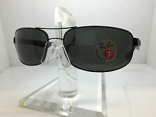 NEW RAY BAN RB 3445 006/P2  64MM  rb3445 MATTE BLACK/POLARIZED DARK GRAY LENS