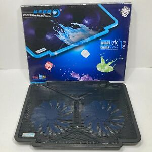 Gaming Laptop Cooler Two Fan Cooling Pad Notebook USB Powered Stand Pro1 Slim
