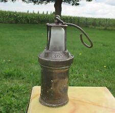 Antique authentic Miner Davy Safety Lamp Iron KGO