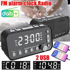 Funk DAB+ Radiowecker Tischuhr FM UKW Uhrenradio Snooze Dual Alarm 2x USB LED