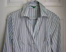 United Colors Of Benetton womens shirt button down striped S Small