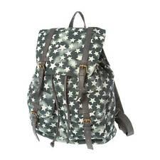 Gray Star Print Backpack School Book Bag - NWT
