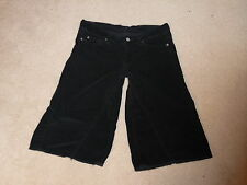 7 SEVEN FOR ALL MANKIND JEANS BLACK MID RISE PARKER GAUCHO CORDUROY SHORTS 28