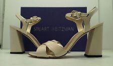 Stuart Weitzman Sunlover Women's Pastry Aniline Block Heel Sandals US 10.5 M
