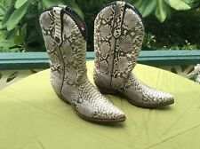 Men's Python Diamondback Authentic Snake Skin boots Size 10 Marlboro Classic