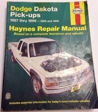 Repair Manual Haynes 30020 Dodge Dakota Pick Up 87-96 2WD And 4WD