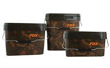 FOX NEW Carp Fishing Square Camo Bait Bucket 17L / 17 Litre X 2 - CBT007