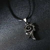 Stainless Steel Flame Pattern Pendant  for Men Necklace Rope Chain Jewelry