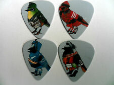 Unusual Set of Four BIRD SOLDIERS Mixed Guitar  .71.mm  Picks  Double Sided