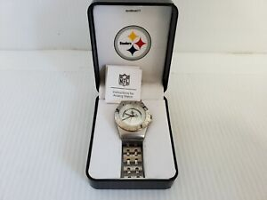 Pittsburgh Steelers Game Time Stainless Steel Logo Watch F3137381