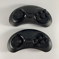 """Sega Genesis Wireless 8 Button Retro Black Controllers """"READ DESCRIPTION"""""""