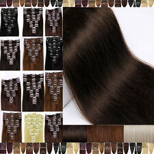 BEST Selling Virgin Color Clip In Remy Human Hair Extensions Full Head Soft F608