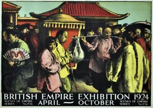 British Empire Exhibition 1920 Illustrated   Vintage Poster   A1, A2, A3