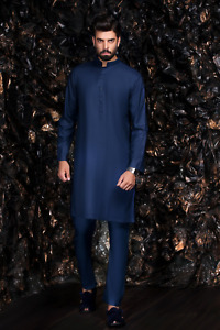 Blue Kurta with Trousers - Indian Bollywood Mens Suit