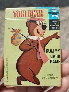 Vintage Toy ED U Cards 1961 Yogi Bear Rummy Card Game Playing Cards