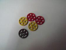 10µµ Lego Roue a courroie 24 lot de 5 roues couleur