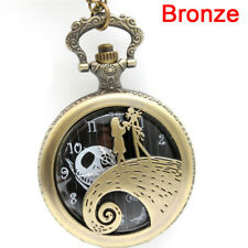 Cidy Nightmare Before Christmas Theme Pendant Men Watches Steampunk Necklace 3c Black